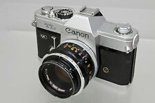 Canon TL QL Manual Focus Film Camera Body with Canon FL 50mm f/1.8 Lens Refurb.