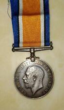 FINE WWI BRITISH WAR SILVER MEDAL GEORGIVS V BRITT. OMN REX ET IND IMP 1914-1918