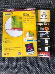 78 Stück CD DVD Etiketten 117 mm Zweckform Avery Inkjet Laser Copy + 10 Einleger