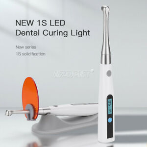 Dental Cordless LED Curing Light 1 Second Cure Lamp 800-1400mw/cm²