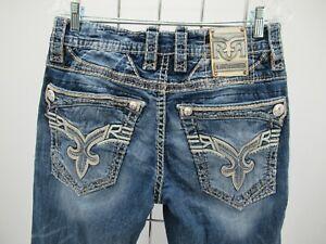 P5685 VTG Men's Rock Revival Creston Slim Boot Cut Jeans Size 32