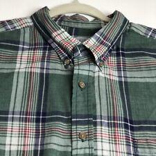 Wentworth Men's Short Sleeve Button Up Shirt XXL 2XL Multicolor Plaid One Pocket