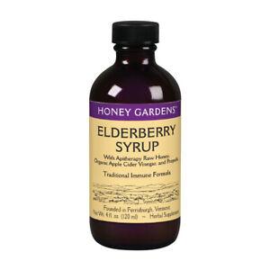 Honey Gardens Elderberry Syrup w/ Apitherapy Raw Honey, Propolis & Elderberries