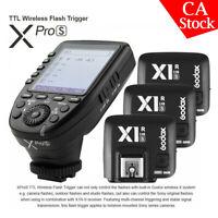 US GODOX XRPO-S 2.4G X TTL Wireless Flash Trigger + 3pcs X1R-S Receiver for Sony