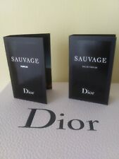 NIB lot of Dior Sauvage Parfum 1 ml and Dior Sauvage Eau de Parfum 1 ml