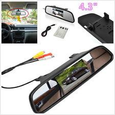 "DC12 V-24V 4.3"" TFT LCD Automobile Reverse Backup Parking Camera Mirror Monitor"