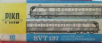 RARE Vintage and UNUSUAL PIKO 2-carriage railcar set SVT137 DDR Livery