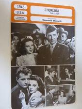 FICHE CINEMA, L'HORLOGE , VINCENTE MINNELLI, 1945, J.garland, R.walker