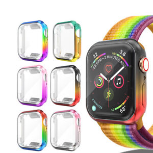 Gradient Cover Fr Apple Watch Series 5 4 3 2 Colorful Full Screen Protector Case