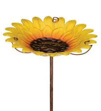 Bird Baths Glass - Birdbath/Feeder w/Stake - Sunflower - Regal Art & Gift 11921G