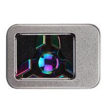 Rainbow Aluminum UFO Fidget Hand Crab Claws Triangle Fidget Spinner Finger Toy