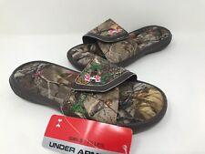 *New! Girls Under Armour 1255786-200 Ignite Camo VII Slide Sandal A67