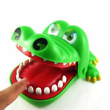 New Big Crocodile Mouth Dentist Bite Finger Game Kids Creative Funny Toys Game
