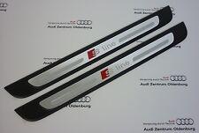 Original Audi Einstiegsleisten Audi A1, 2-teilig, Ziereinlage Aluminium Sline