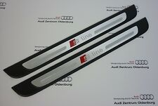 Original Audi Seuils de Porte A1, 2-teilig, Insert Décoration Aluminium Sline