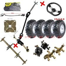 "New listing 32"" Rear Axle Kit Front Steering Assembly Tie Rod Steering 19x7.0-8 Wheels Hub"