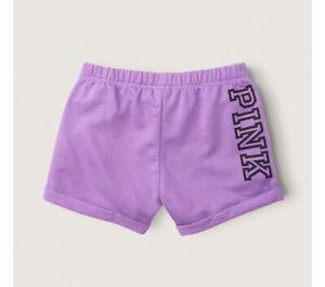 NWT VICTORIAS SECRET PINK BOYFRIEND SHORT NEON Purple CLASSIC Loose Fit XL ❤️