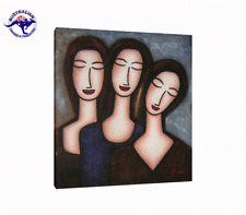 'three Sisters' Oil Painting Australia Framed With Black Frame