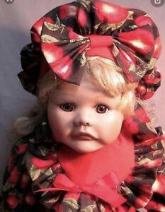 "Apple Dumpling 1994 Holly Hunt World Gallery 22"" Porcelain Baby Doll"