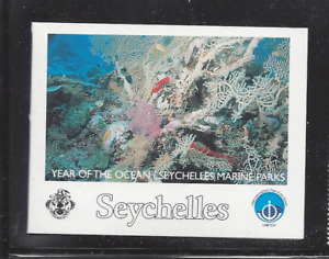 SEYCHELLES 803 MNH FISH, ANEMONES, TURTLE *INTACT BOOKLET OF 2 STRIPS OF 5*