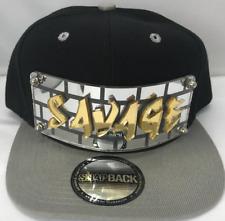 Personalized Custom Savage Snapback Hat Six Panel Flat Bill Snap Back Hat Cap