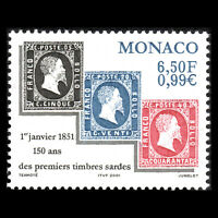 Monaco 2000 - Anniversary of the First Sardinian Stamp - Sc 2193 MNH