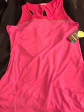 DANSKIN NOW PERFORMANCE REFLECTIVE LOOSE FIT ACTIVE TANK HOT PINK XXL 20