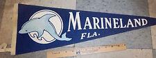Marineland Florida, vintage Felt Pennant, great collectible, cute dolphin