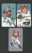 Swap Playing Cards 3 1960's Japanese Phantom Agents Pilots Anime 3/4 A96