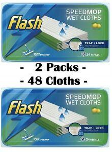 Flash Speedmop WET CLOTHS - 48 Refills Lemon - Speed Mop Refill 2 Packs