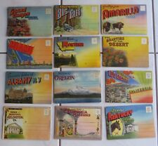 1 Old Time Very Colorful Postcard Folder ~ They Fold Out To Reveal Numerous Pict