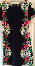 OLD NAVY – BLACK & BRIGHT FLORAL – LADIES SHIFT DRESS – SIZE M (SUIT 12) - NEW
