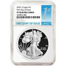 Presale - 2020-S Proof $1 American Silver Eagle NGC PF70UC FDI First Label