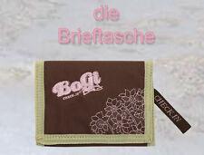 BoGi Bag Girl Stoff Geldbörse Portemonnaie Brieftasche Etuis Check In braun rosa