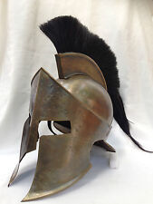 Ancient Armour King Leonidas 300 spartan Helmet in antique finish with plume