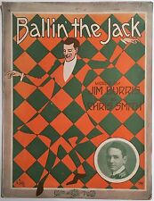 "1918 ""BALLIN' THE JACK"" SHEET MUSIC LARGE FORMAT - FULL BLEED ART COVER"