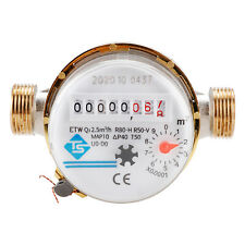 Mechanical Rotor Water Meter Flow Meter 3/4 Inch Water Meter with Fittings