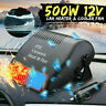 500W 12V Car Fan Heater Defroster Cooler Dryer Demister Auto Portable Heating