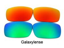 Galaxy Replacement Lenses For Oakley Square Whisker Sunglasses Green/Red