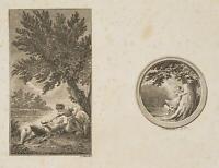 CHODOWIECKI (1726-1801). Illustrationen: Sophie Albrecht's Gedichten, Probedruck
