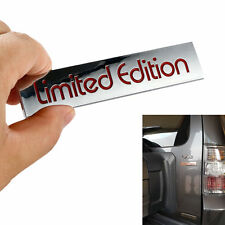 3D Silver LIMITED EDITION Emblem ABS Badge Car Side Fender Rear Trunk Sticker