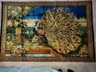 Mid-Century Peacock Tapestry from Lebanon- 74.5 x 49