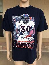 737ca239d Vintage 1998 Terrell Davis Denver Broncos T Shirt RB NFL Tultex Size Large