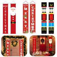 1 Paar Weihnachtsbanner Flagge Couplet Veranda Weihnachten Tür Hängende Dekor