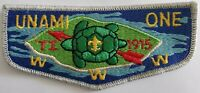 BSA Boy Scout Order Of The Arrow OA Unami One WWW TI 1915 Patch !