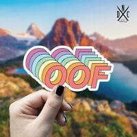 Oof Sticker Vinyl Decal - Car Laptop Wall iPhone Macbook Funny Stickers