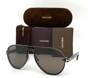 Tom Ford ALEXEI FT0622 12J Dark Ruthenium / Brown 62mm Sunglasses TF0622