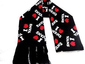 VANS (TEAM SPIRIT) SCARF BLACK ACRYLIC ONE SIZE MSRP $34.50 NWT