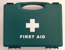 First aid kit - HSE 10 person size in a green plastic box - for home or office