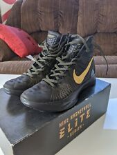 NIKE ZOOM HYPERDUNK 2011 ELITE SERIES - BLACK/METALLIC GOLD SZ 9.5